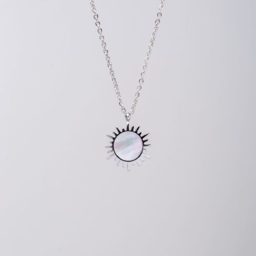 Shade Necklace (White Nacre/Silver)