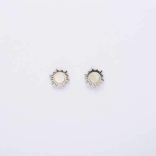 Shade Earrings (White Nacre/Silver)