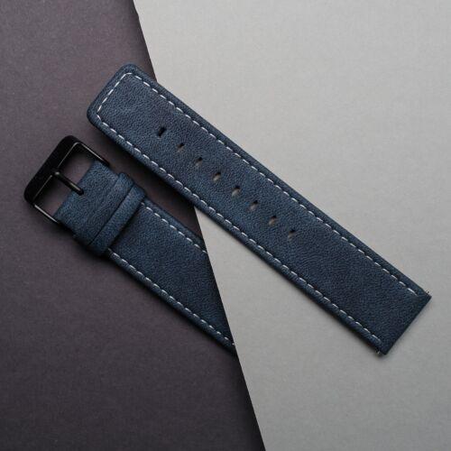 Strap Robin 22mm Vegan (Blue/Black)