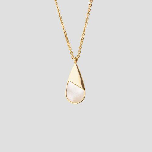 Emulsify Necklace (White Nacre/Gold)