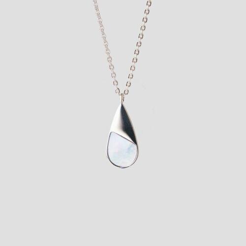 Emulsify Necklace (Blue Nacre/Silver)