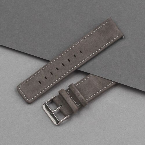 Strap Robin 22mm (Dark Gray/Silver)