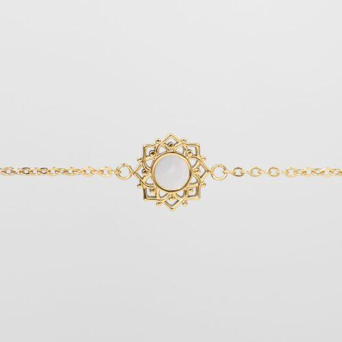 Composition Bracelet (White Nacre/Gold)