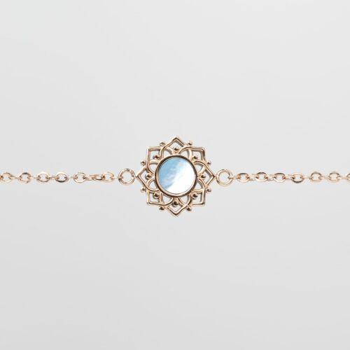 Composition Bracelet (Blue Nacre/Rose Gold)