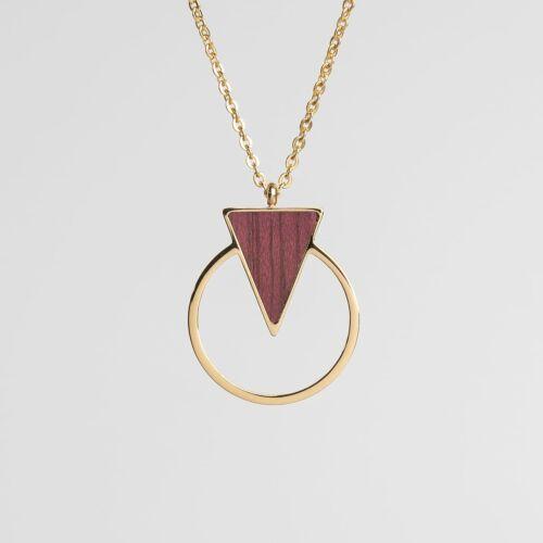 Focus Necklace (Amaranth/Gold)