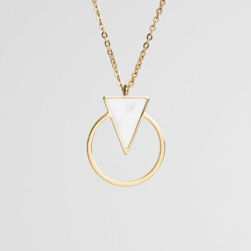 Focus Necklace (Marble/Gold)