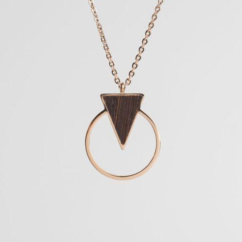 Focus Necklace (Wenge/Rose Gold)