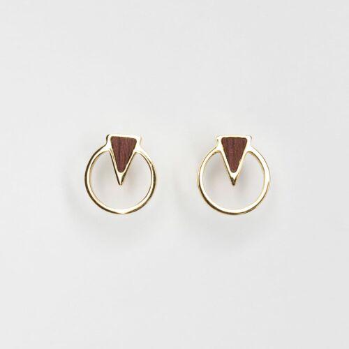 Focus Earrings (Amaranth/Gold)