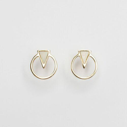Focus Earrings (Marble/Gold)