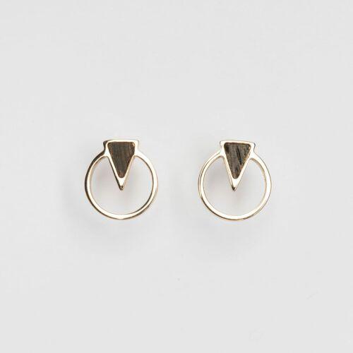 Focus Earrings (Wenge/Rose Gold)