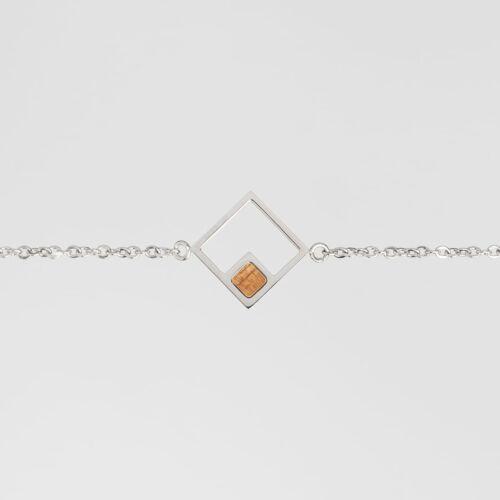 Geometric Bracelet (Koa/Silver)