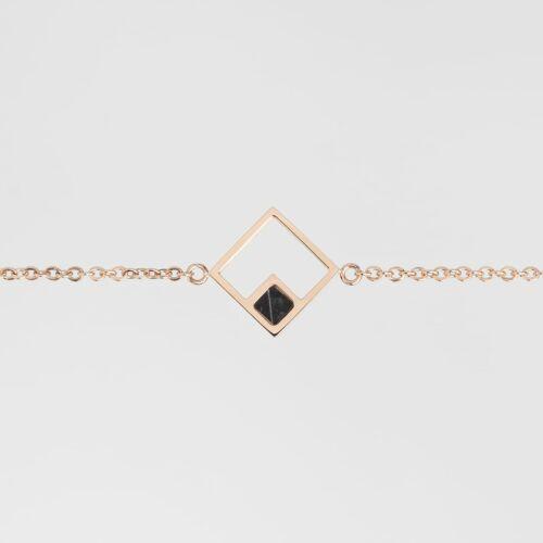 Geometric Bracelet (Marble/Rose Gold)