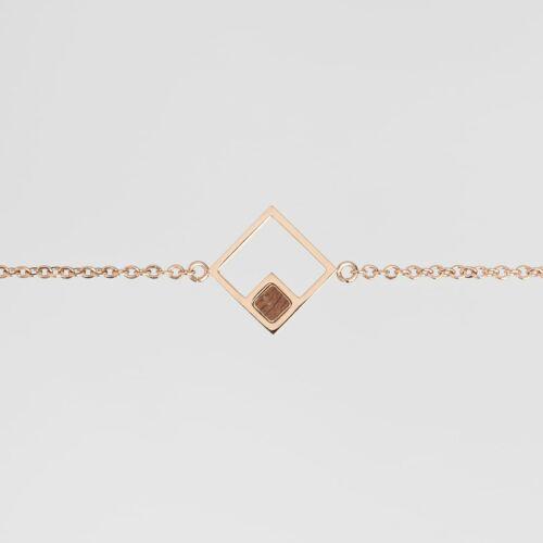Geometric Bracelet (Walnut/Rose Gold)