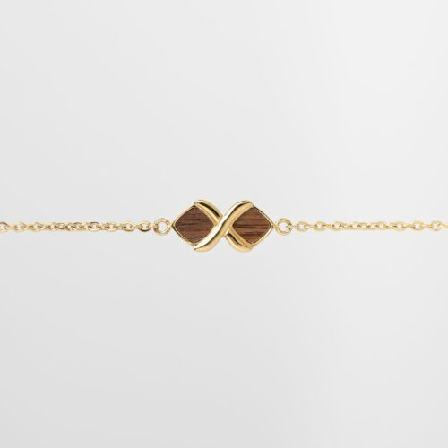 Mosaic Bracelet (Walnut/Gold)