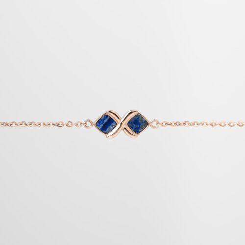 Mosaic Bracelet (Lapis Lazuli/Rose Gold)