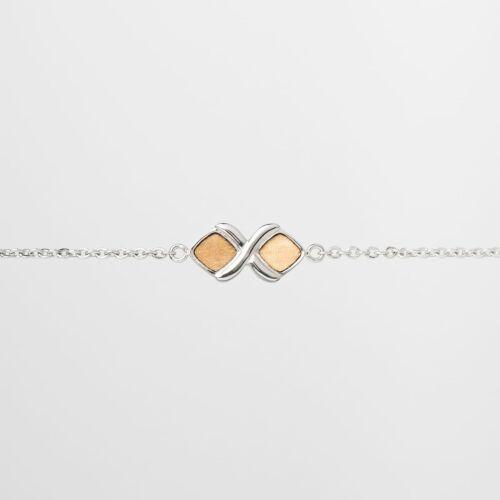 Mosaic Bracelet (Olive/Silver)