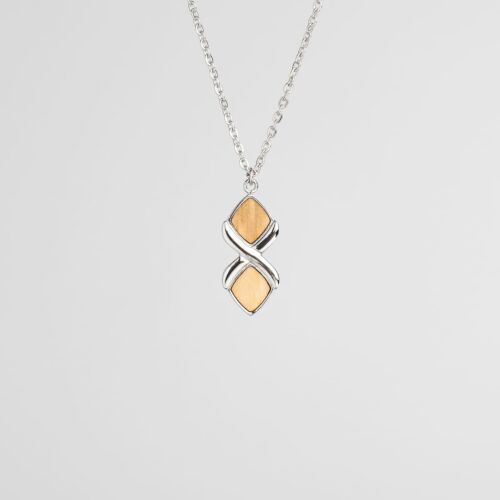 Mosaic Necklace (Olive/Silver)
