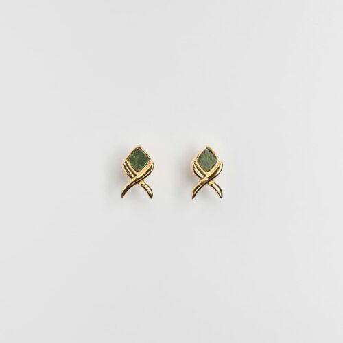 Mosaic Earrings (Slate/Gold)