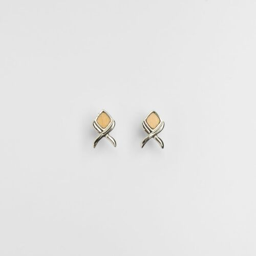 Mosaic Earrings (Olive/Silver)