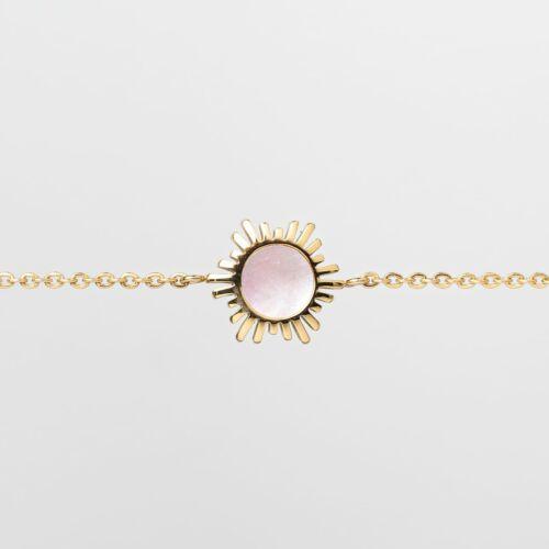 Shade Bracelet (Pink Nacre/Gold)