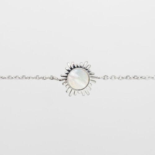 Shade Bracelet (White Nacre/Silver)