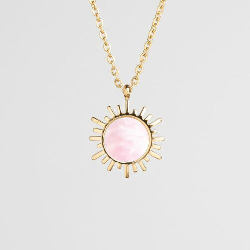 Shade Necklace (Pink Nacre/Gold)