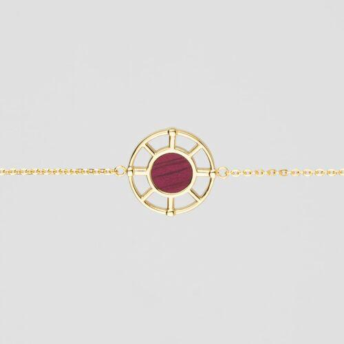 Amulet Bracelet (Amaranth/Gold)