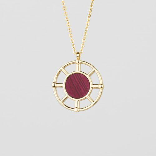 Amulet Necklace (Amaranth/Gold)