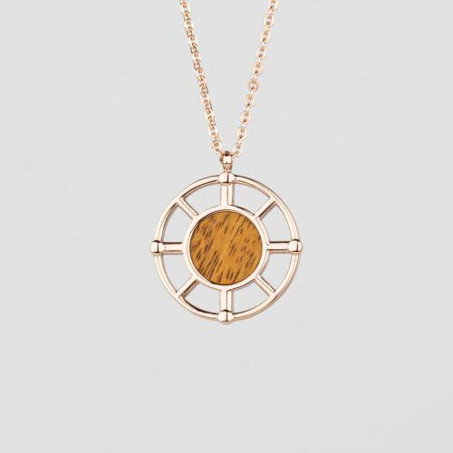 Amulet Necklace (Koa/Rose Gold)