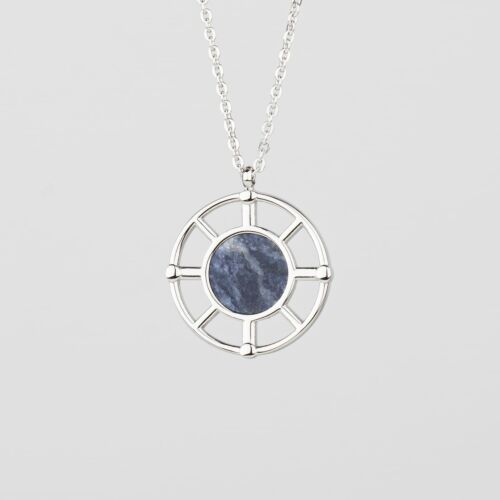 Amulet Necklace (Marble/Silver)