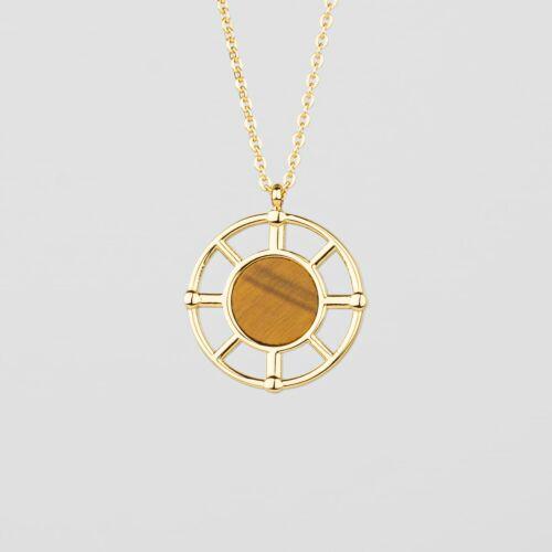 Amulet Necklace (Tiger's Eye/Gold)