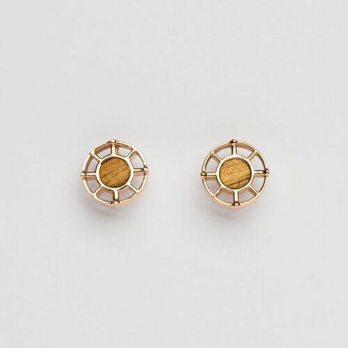 Amulet Earrings (Koa/Rose Gold)