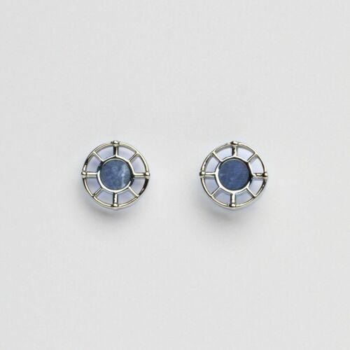 Amulet Earrings (Marble/Silver)