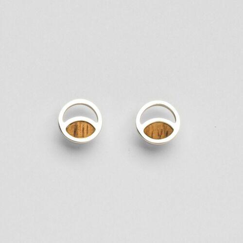 Perception Earrings (Zebrawood/Silver)