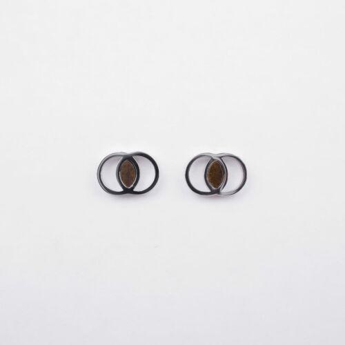 Effigy Earrings (Leadwood/Silver)