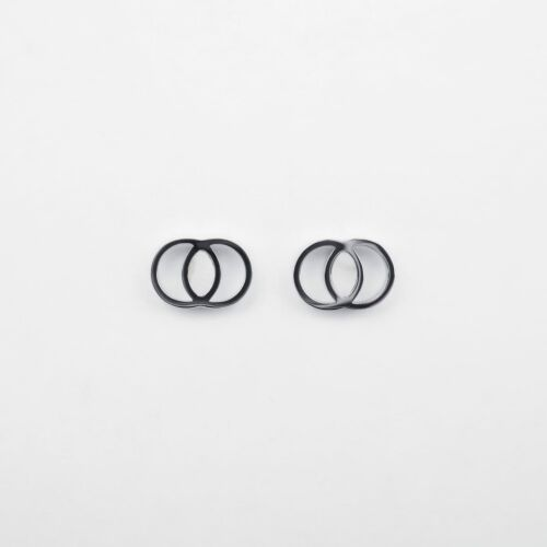 Effigy Earrings (Marble/Silver)