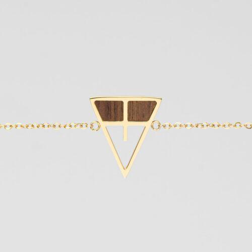 Chiaroscuro Bracelet (Walnut/Gold)