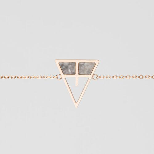 Chiaroscuro Bracelet (Gray Marble/Rose Gold)