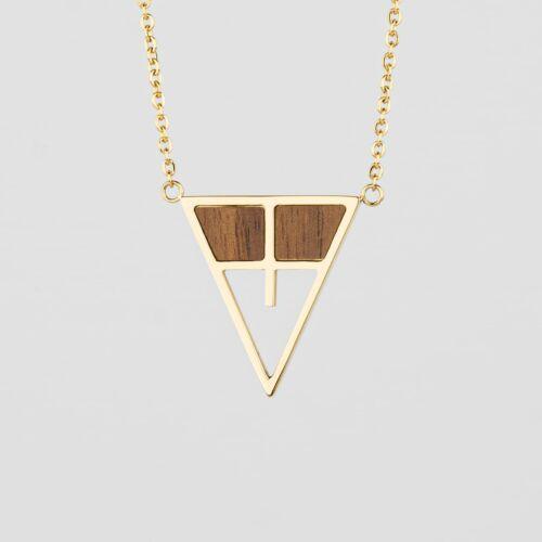 Chiaroscuro Necklace (Walnut/Gold)