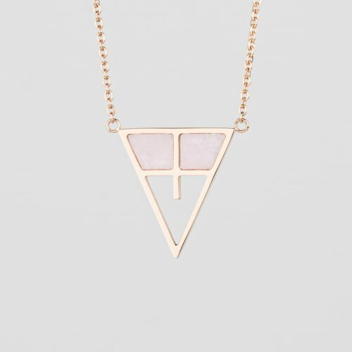 Chiaroscuro Necklace (Pink Marble/Rose Gold)