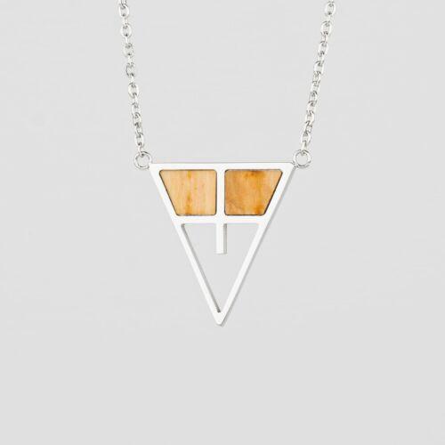 Chiaroscuro Necklace (Olive/Silver)