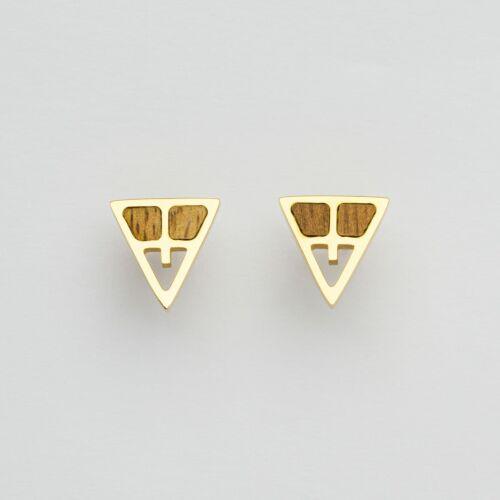 Chiaroscuro Earrings (Walnut/Gold)