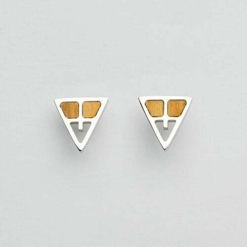 Chiaroscuro Earrings (Olive/Silver)