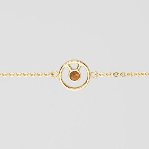 Concentric Bracelet (Marblewood/Gold)