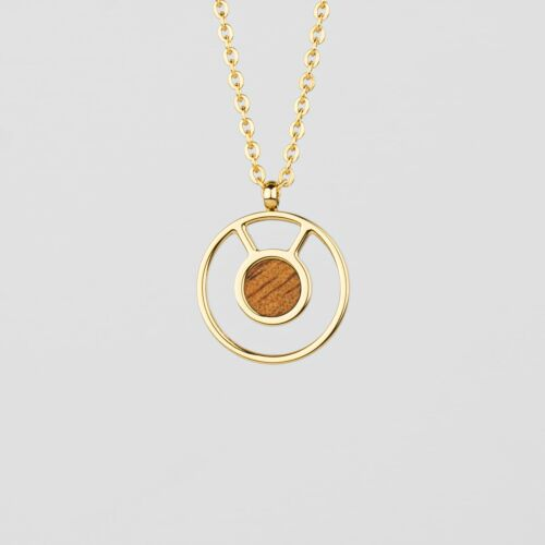 Concentric Necklace (Marblewood/Gold)