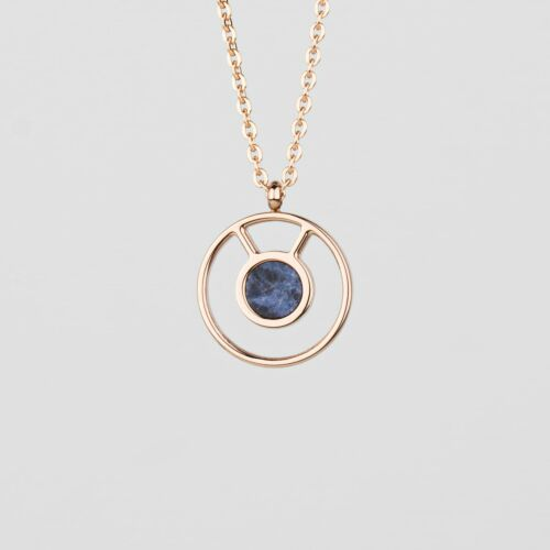 Concentric Necklace (Marble/Rose Gold)