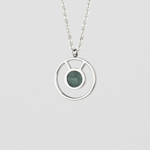 Concentric Necklace (Marble/Silver)