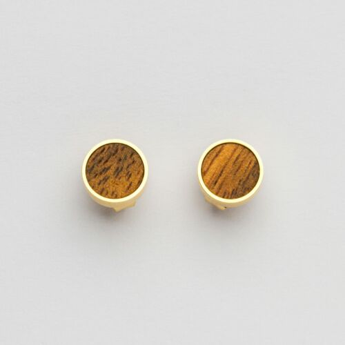 Concentric Earrings (Marblewood/Gold)
