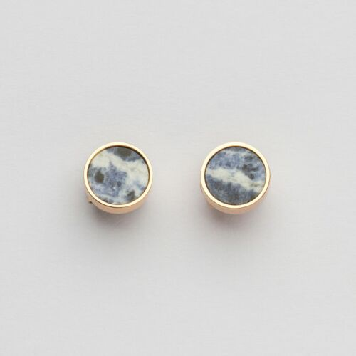 Concentric Earrings (Marble/Rose Gold)