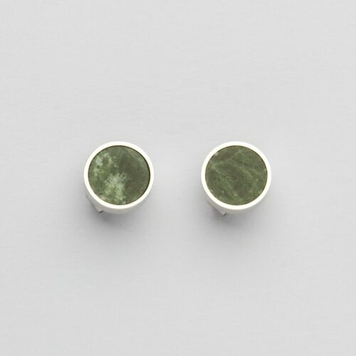 Concentric Earrings (Marble/Silver)